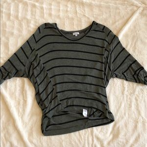 Forest green and black striped Splendid top